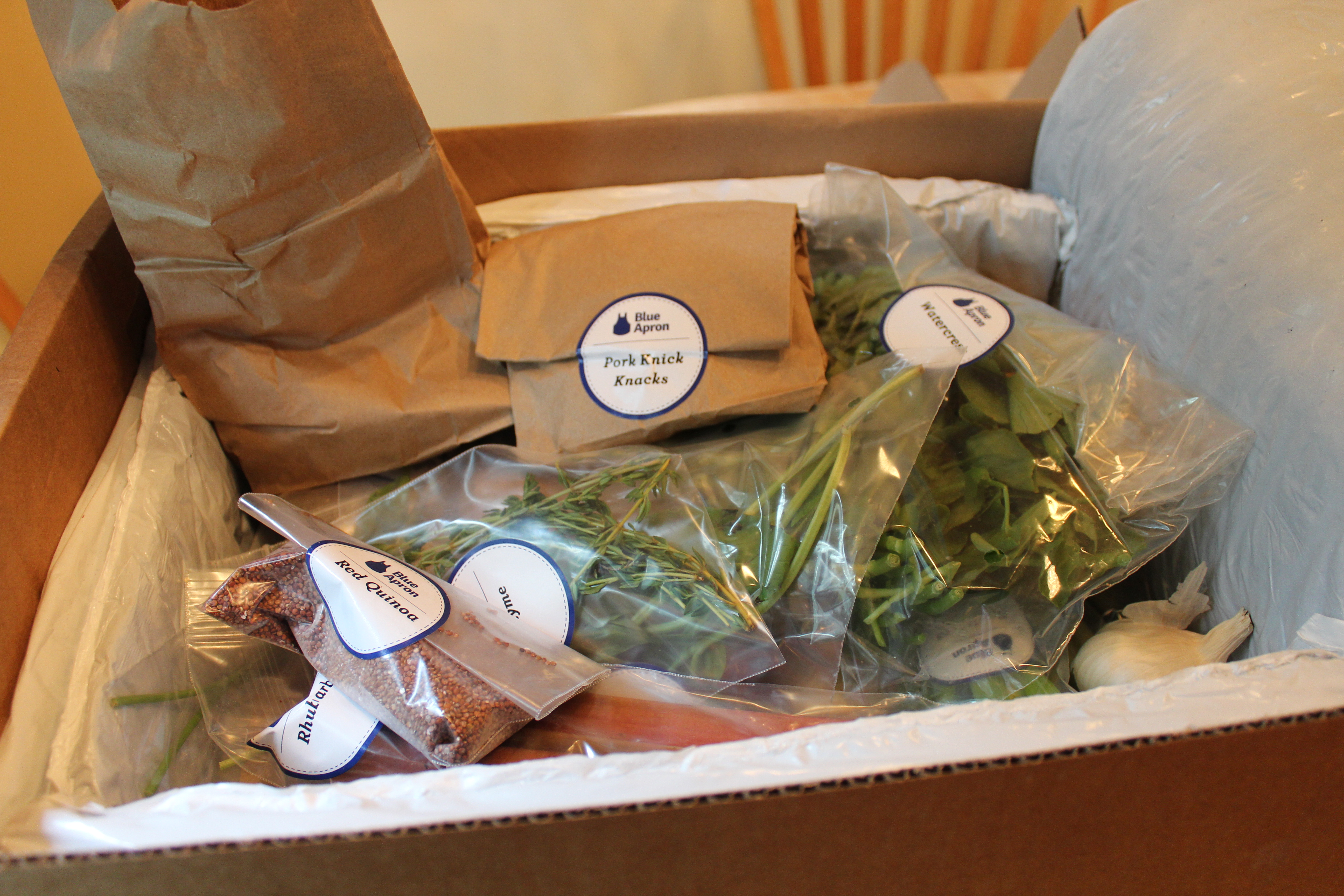 Blue apron packaging - The Three Dishes Included In Our Box Were