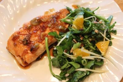 Maple & Ginger Glazed Salmon